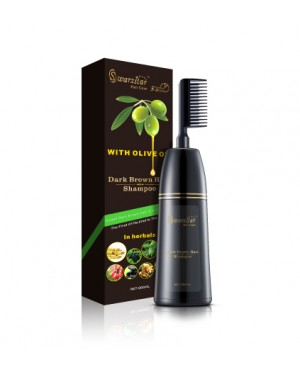 SWARZSTAR DARK BROWN HAIR COLOUR SHAMPOO COMB