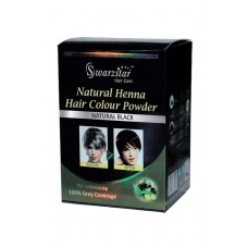 NATURAL HENNA HAIR COLOR POWDER (NATURAL BLACK) 200 GM (PACK OF 10 SACHETS = 20GM X 10 SACHETS)