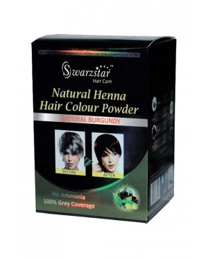 NATURAL HENNA HAIR COLOR POWDER (BLACK /BROWN /BURGUNDY) 200 GM (20GM X 10 SACHETS)